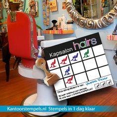 Stempelkaart stempels laten maken? Leuk voor je webshop, winkel of retailers, wij hebben speciale sneldrogende stempels hiervoor!