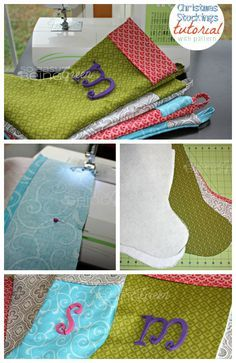Wanting to sew your own Christmas Stockings? Check out this Christmas Stocking Tutorial with a free pattern! Perfect for beginners