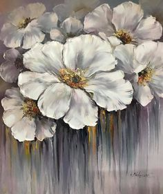 Abstract Painters, Abstract Canvas, Canvas Wall Art, Painting Abstract, Flower Painting Canvas, Oil Painting Flowers, Modern Oil Painting, Large Painting, Hanging Paintings