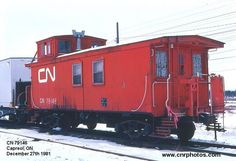 79146  Builder: CN  Type: Caboose  Built Date: 1919  Location: Capreol, ON  Date: December 27th 1981  Photographer: Don Jaworski  Company service/Auxiliary