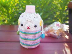 編み物無料レシピ(編み図)   ペットボトルホルダー   ペットボトルカバーひつじ   いちかわみゆき