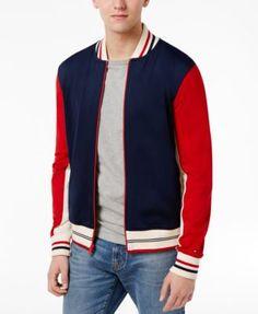 TOMMY HILFIGER Tommy Hilfiger Men'S Palmer Logo Baseball Jacket . #tommyhilfiger #cloth # coats