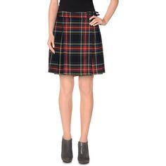 Hanita Mini Skirt ($42) ❤ liked on Polyvore featuring skirts, mini skirts, red, mini skirt, tartan miniskirts, red mini skirt, tartan mini skirt and short pleated skirt