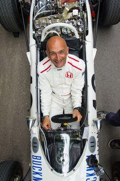 Castrol Honda WTCC star Gabriele Tarquini tries out the legendary Honda RA272
