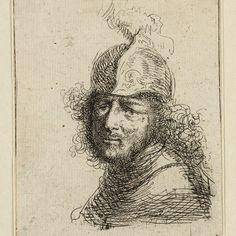Rembrandt, Kop van een man met helm, 1675. Teylers Museum