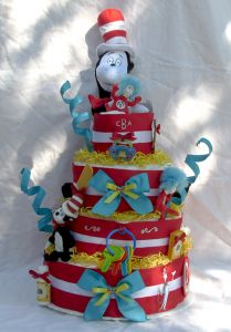 dr. suess diaper cake One day this would make for an awesome baby shower