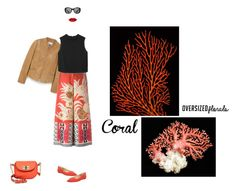"""""""Coral is my color"""" by beatrice-g970 ❤ liked on Polyvore featuring MANGO, Etro, Michael Kors, Victoria Beckham, Merona and oversizedflorals"""
