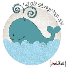I {❤} Whale Art Print by lilycious | Society6