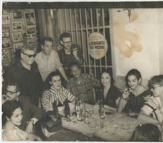 Alicia Alonso, painters Wilfredo Lam and Mariano Rodriguez, and the actresses Raquel Revuelta and Gina Cabrera - la Bodeguita del medio