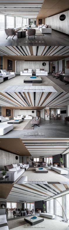 Design Studios, Ceiling Ideas, Living Room Modern, Lounge, House Design, Interiors, Mansions, Interior Design, Space