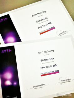 OFFICIALLY Pro Tools 110 Certified User :: Pro Tools 101 v10 upgrade, Pro Tools 110 and Pro Tools User exams done in a row. Pretty much challenging! ^___^    Many (WAY TOO many) thanks to Senio Corbini and Fausto Demetrio of Percorsi Audio for their HUGE professionalism!
