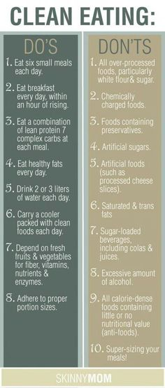 Clean eating does & don'ts