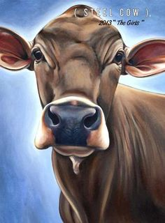 Love Valerie Miller at Steel Cow! Have 4 of her works (as canvasses) & would love to have even more - especially if she ever does an Angus.