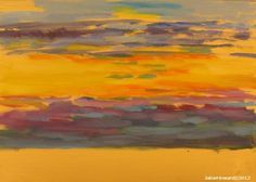 """Sunrise at the beach  May 6, 2012  oil on panel 5x7""""   Before sunrise - 5 minute painting"""