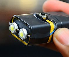 In this instructable you& learn how to convert a regular 9 volt battery into a super tiny, super bright, LED flashlight. Here& what you& need 2 x 1 watt LED& Electronics Basics, Electronics Components, Electronics Gadgets, Electronics Projects, Led Projects, Electrical Projects, Robot Led, Diy Tech, Tech Hacks