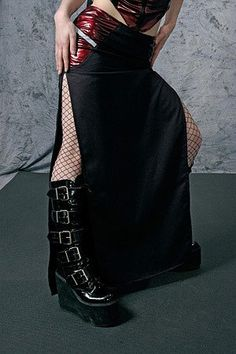 Nemesis Skirt in Red  cyber industrial goth alt by FUTURSTATE
