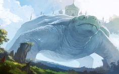"""Giant turtle. """"Land of Giants"""" by Desmond Wong"""