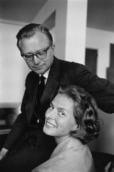Ingrid with her third and final husband, Lars. He was good for her, and remianed a loving presence until the end.  lmr