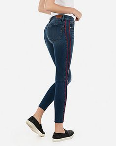 2d30df740f3edf Express Mid Rise Denim Perfect Curves Lift Black Jean Leggings in ...