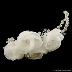 Letitia Ivory Flower Wedding Hair Clip i like this one :)