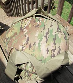Green Camouflage Double Hanging Cat Bed Kitty Cloud by 7CatsHeaven