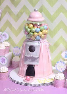 Gumball machine cake!
