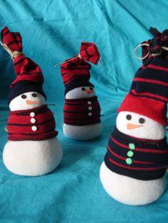 snowmen made from socks