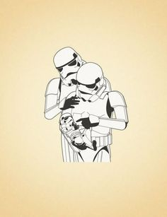 """""""I hope he grows up to be exactly like you"""", a Modern Stormtrooper Family, Inspiration, Star Wars Art. Star Wars Love, Star Wars Baby, Stormtrooper, Darth Vader, Star Wars Nursery, The Bad Seed, Empire, Por Tv, Groomsmen"""