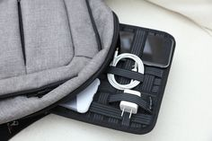 Amazon.com: Kopack Electronics Organizer Board Cord Gadget Organizer With Storage bag for Power Bank/Charging Cable/Digital Device: Computers & Accessories