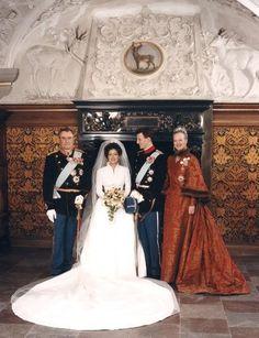 The wedding of Prince Joachim and Princess Alexandra in Frederiksborg Church in Copenhagen 1995