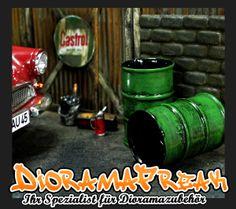 Öl Oel Fass Deko Tool Modellbau Werkstatt Tankstelle Garage Diorama Zubehör 1/18 | eBay