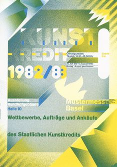 Wolfgang Weingart, exhibition poster, 1982. Look at the video to learn more about Weingart!