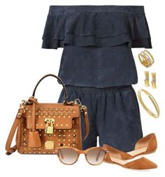 """""""TAN & BLUE"""" by littlefeather1 ❤ liked on Polyvore featuring Marco Bicego, Designers Remix, MCM, Maiden Lane and Persol"""