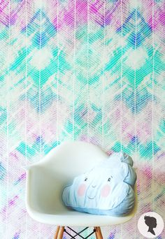 Watercolor Pattern Wall Mural. Removable Wallpaper by Livettes