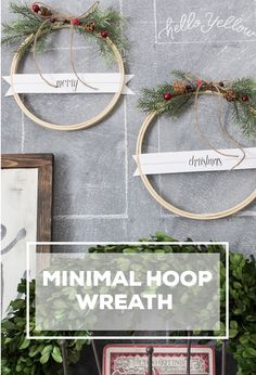 Merry Christmas Embroidery Hoop Wreath #LeonsHelloHoliday (With a free printable!)