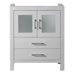 Virtu USA Dior 28-inch White Single Sink Cabinet Only Bathroom Vanity | Overstock.com Shopping - Great Deals on VIRTU Bathroom Vanities