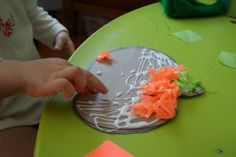 Pink and Green Mama: Preschool At Home: Halloween Tissue Paper Craft