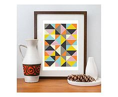 RESTYLE DESIGN PRINTS & CO: Affiche Harlequin Abstract, Multicolore - A3