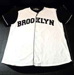 $14.98/ Men's Brooklyn Baseball Jersey style Shirt, short Sleeves size Large by…