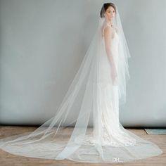 2016 Long Bridal Veils 3m Tulle Veils Top Quality Wedding Veil One Layer Cheap Veil Long Cathedral Bridal Wedding Dress Veil