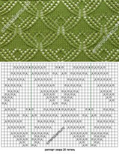 Strickmuster mit Strickschrift – Awesome Knitting Ideas and Newest Knitting Models Lace Knitting Stitches, Lace Knitting Patterns, Knitting Charts, Lace Patterns, Knitting Designs, Knitting Projects, Stitch Patterns, Knit Crochet, Points