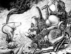 Artista: Apolo Cacho  Obra: De la serie El Buda sádico