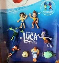These Luca toys are so adorable! Lucas Movie, The Sweetest Thing Movie, Sea Monsters, New Movies, Disney Pixar, Color Change, Christmas Ornaments, Toys, Holiday Decor
