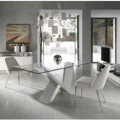 Mesa Comedor Cristal Moderna CT998 de Angel Cerdá. Muebles modernos de diseño en Nuryba.com