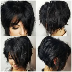 Flattering Layered Short Haircuts for Thick Hair. It's hard to discover a short haircut that fits your hair exactly, a style that will look nice to your Short Haircut Thick Hair, Messy Short Hair, Short Layered Haircuts, Bob Hairstyles For Thick, Short Hair With Layers, Down Hairstyles, Layered Bob Thick Hair, Thick Short Hair Cuts, Thick Haircuts