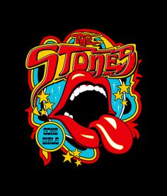 Vintage Tongue Rolling Stones T Shirt - Adult Unisex Size Tag a friend who would love this! Rolling Stones Logo, Rolling Stones Album Covers, Rolling Stones Quotes, Rock Vintage, Rock Band Posters, Rock Band Logos, Vintage Music Posters, Stone Wallpaper, Hippie Art