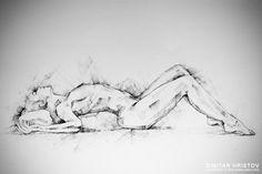 SketchBook+Page+55+–+Charcoal+drawing+woman+lateral+pose+by+Dimitar+Hristov+(54ka)