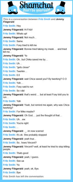 a random conversation between Fritz Smith, and Jeremy Fitzgerald