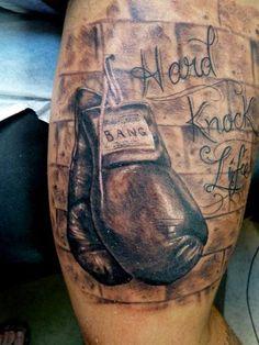 d419df1d5d634 30 Fascinating Wall Tattoos   CreativeFan Boxing Gloves Tattoo, Boxing  Tattoos, Hand Tattoos,