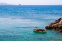 Lonely boat Karpathos, Greek Islands, More Photos, Lonely, Greece, Boat, Water, Outdoor, Greek Isles